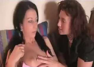 Mom seduced her daughter in the bedroom