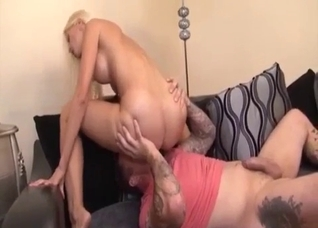 Fascinating sis gives a sensual blowjob to her bro