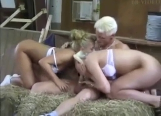 Brother gets sucked by two slutty sisters