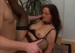 My big-boobed stepmom gets impaled in the missionary pose