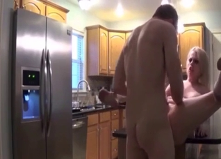 Just fucking my slutty stepmom in the doggy style pose