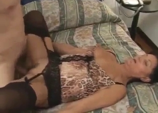 Big-boobed amateur MILF have incest fun with brother