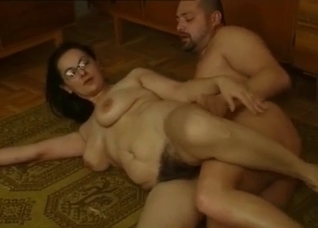 Fat sister with hairy snatch gets a nice cunnilingus