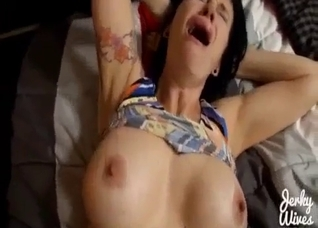 Big-boobed sister nailed by brother in POV mode