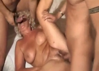 Glamorous MILF enjoys her horny young cousins